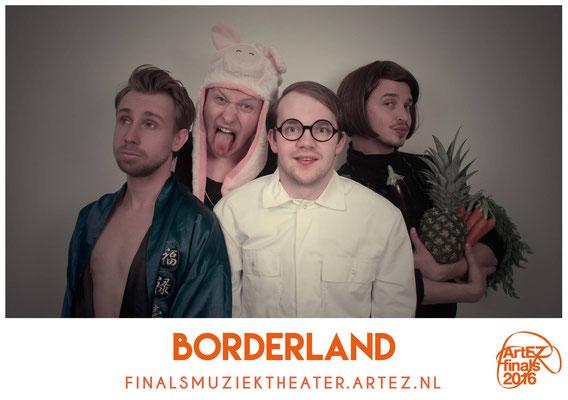Borderland, 2016. Tekst: Maarten Hopman. Spel: Maarten Hopman, Rubin van Gent, Wolter Weulink, Jens Oosterloo. Eindregie: Jos Thie