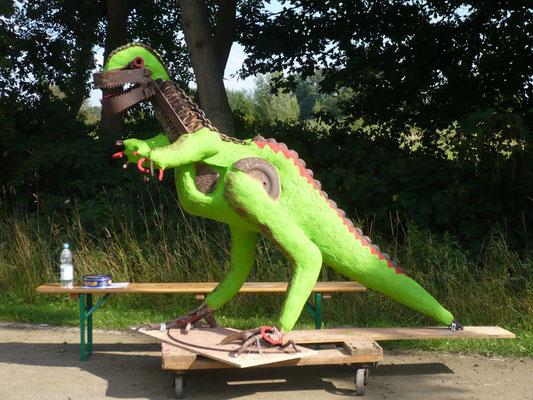 Dinosaurier von Karin Wolf - eine Kombination von Metall und NonaD!