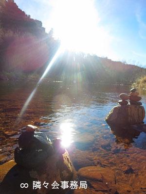 ★ 於: アリゾナ州セドナ 石を積み重ねると願い事が叶うと云われています♥