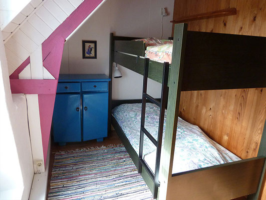 Stockbettzimmer im Obergeschoss