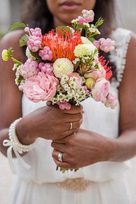 orangen herbstlicher Brautstrauß