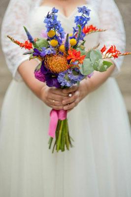 bunter Brautstrauß Boho