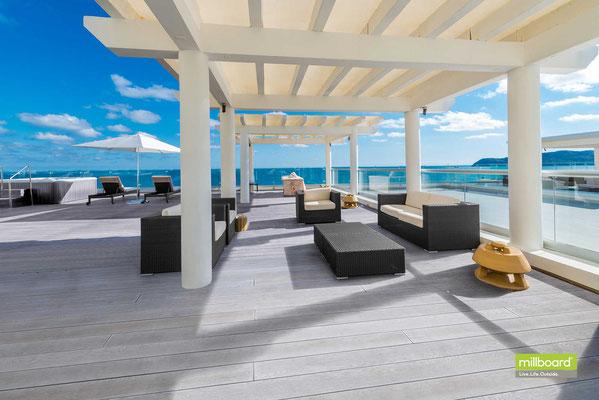Hersteller MILLBOARD © - Premium Terrassendielen für Terrassendecks in Holzoptik