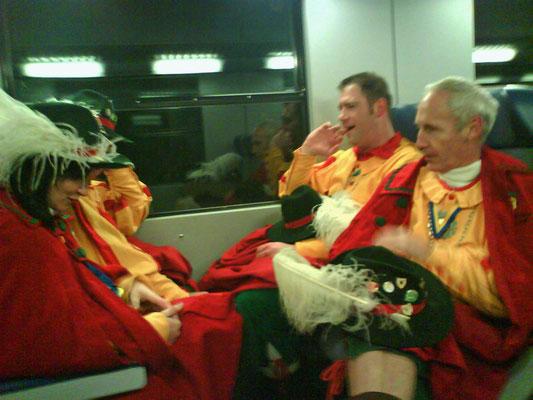Im Zug nach Hohenems