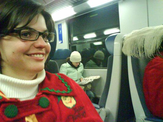 Im Zug nach Hohenems - Sabine