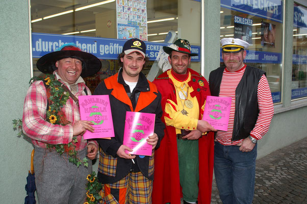 Hannes, Michael, Oliver und Adolf