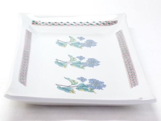 九谷焼 長皿 紫陽花 磁器