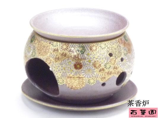 九谷焼 茶香炉 加賀のお殿様・お姫様気分(金花詰)