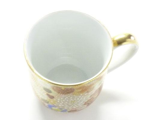 九谷焼 マグカップ 磁器 加賀のお殿様 お姫様キブン 金花詰
