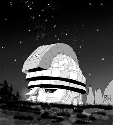 星を見上げるジェロニモさん  7月8日 ワンドロ「星テーマ」で描いた絵