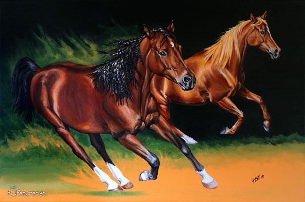 """Eunizia und Esperado"", Acrylic on Canvas, 90x60, 2015"