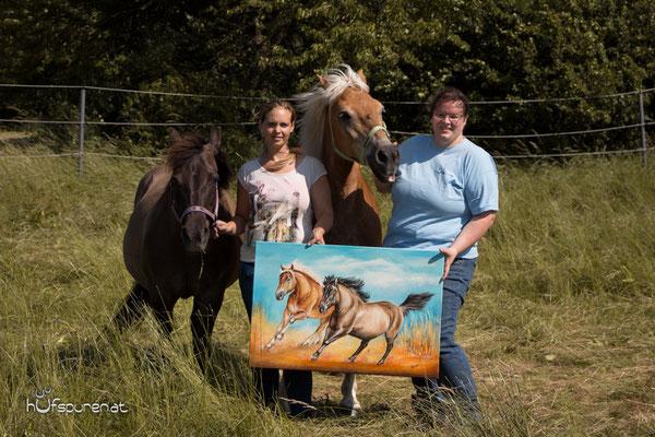 Die persönliche Pferdegemälde Übergabe