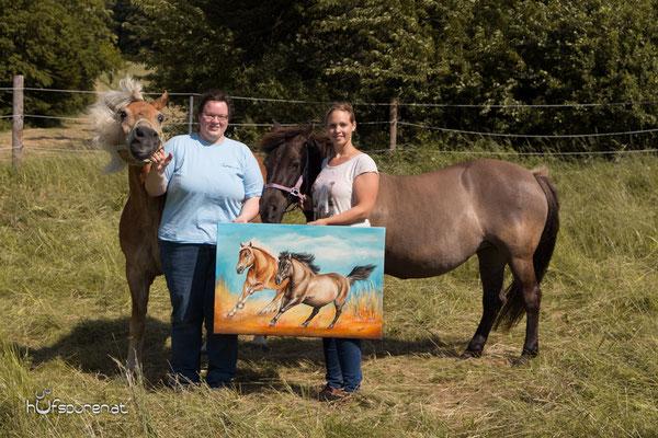 Das Pferdegemälde mit den beiden Pferden Anni und Nuri