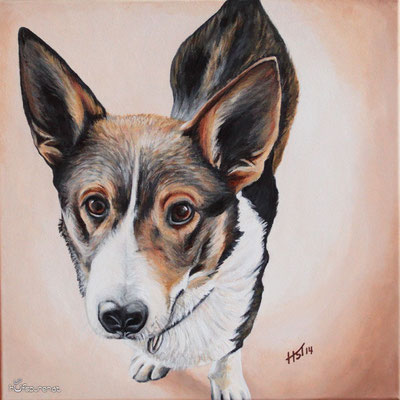 """Benny"", Acrylic on Canvas, 40x40, 2014"
