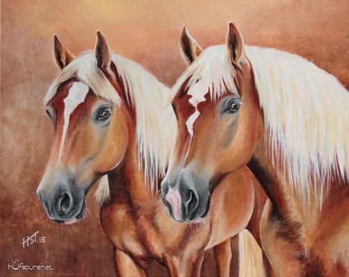 """""""Felix und Niki"""", Acrylic  on Canvas, 40x50, 2015"""