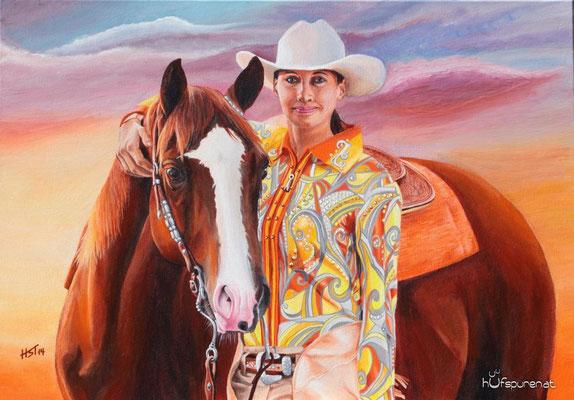 """Sunset on Sunrise Ranch"", Acrylic on Canvas, 50x70, 2014"