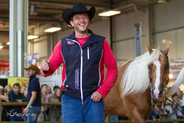 Gotta Gold Chain, Quarter Horse Stallion Promotion Americana 2015, Decksprungversteigerung