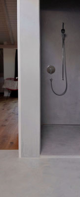 shower area: captivating by simplicity