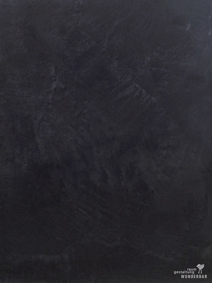 """""""Black Slate"""" seamless wall design made from natural lime"""