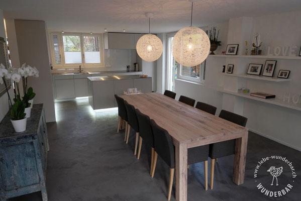 Nachher: Stimmungsvolles Esszimmer & Küchenbereich