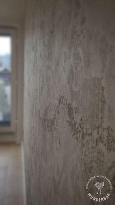 Öko-Wandgestaltung: graue Strukturen mit Tiefe