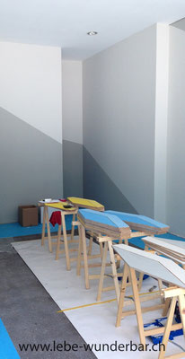 Präzision: sauber beschnittene Wandfarben