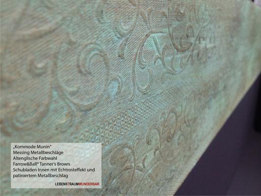 """Patinierter Metallbeschlag """"Grünspan"""" - Möbelgestaltung"""