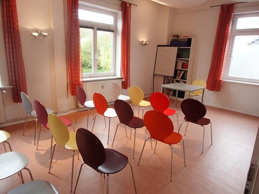 Noch ist der Raum leer, aber das soll sich bald ändern :)