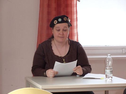 """Amalia Zeichnerin, Steampunk, bei der Vorstellung von """"Der Stern des Seth"""""""