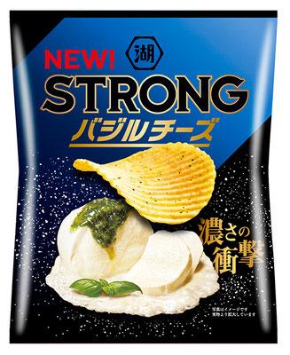 湖池屋STRONG ポテトチップス バジルチーズ