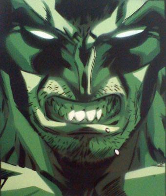 green Wolverine, Leinwand auf Keilrahmen