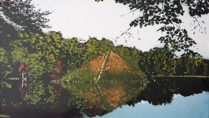 Pyramide im Pückler-Park Cottbus, Leinwand auf Keilrahmen