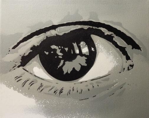 Auge, Leinwand auf Keilrahmen