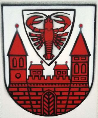 Wappen der Stadt Cottbus, Leinwand auf Keilrahmen