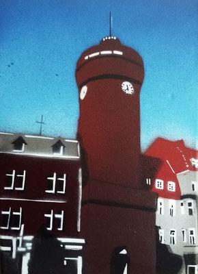 Cottbus Spremberger Turm, Leinwand auf Keilrahmen