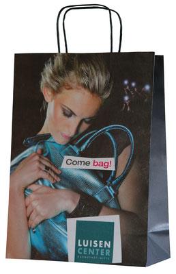 Papiertaschen mit Foto im Offset bedruck diese Tragetasche verfügt über einen Randumschlag und Kartonboden