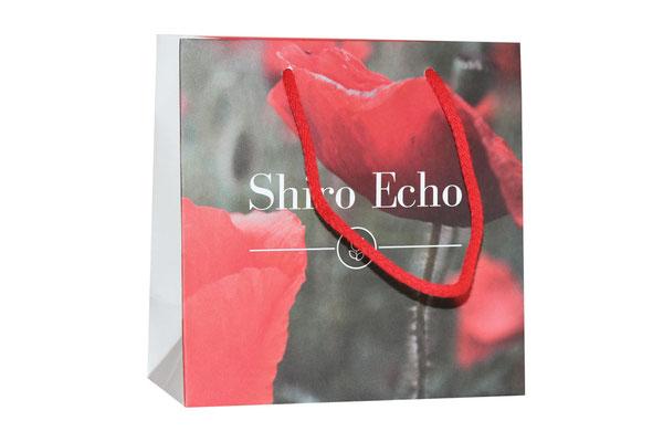 Papiertaschen aus Recyclingpapier Shiro Echo mit Kordel aus Baumwolle