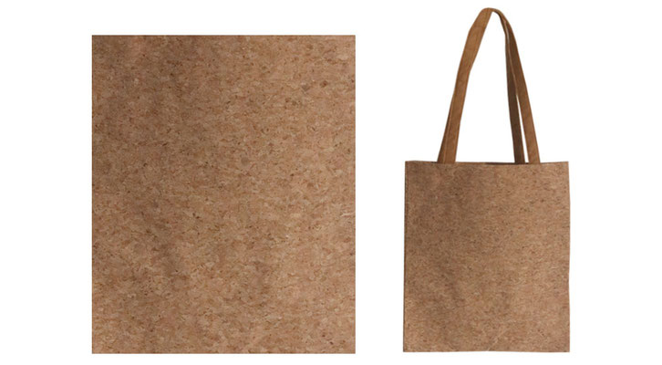Taschen und Werbe Tragetaschen aus Kork mit langen Griffen