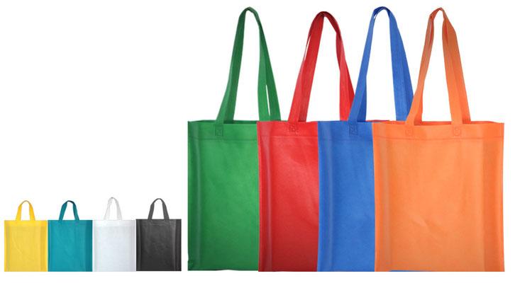 Non Woven Taschen mit kurzen oder langem Griff in vielen Farben einfache günstige aber vorallen billig und stablie Tragetaschen aus Woven