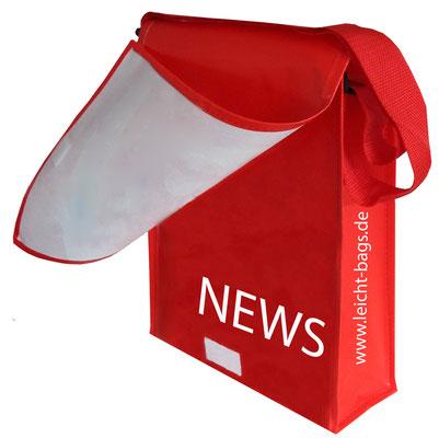 Postino Tragetaschen mit Umschlag zum verschließen der Werbetasche