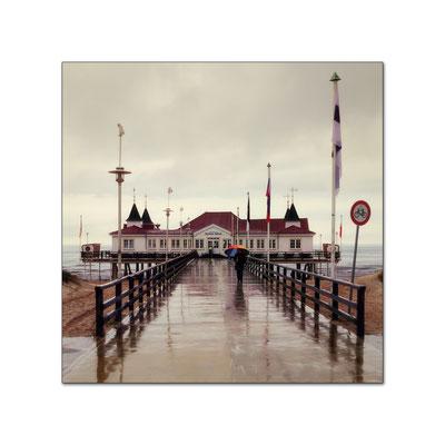 Meine Lieblings Seebrücke Ahlbeck sehr nass