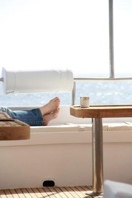 Relaxen auf unseren großen Booten mit allem Confort