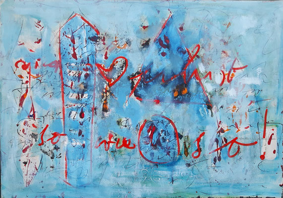 Hans Staudacher, so wie so, 1996, Öl auf Leinwand, 70x100cm © Hans Staudacher