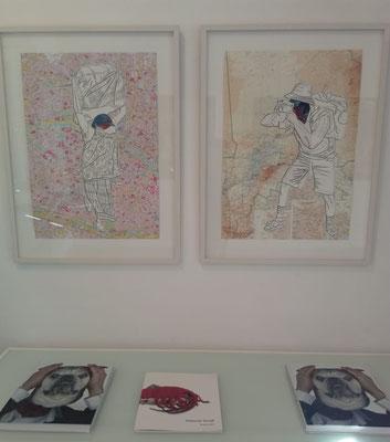 Deborah Sengl, Minimundus, Ausstellungseröffnung im Kunstraum Walker, September 2018 © Galerie Walker
