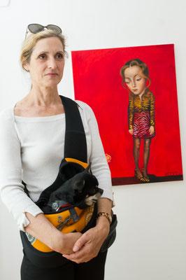 Ausstellung im Schloss Ebenau, Christy Astuy, 2019 © Dieter Arbeiter