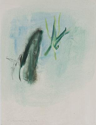 Peter Krawagna, Esquinzo, Öl/Japanpapier, 2017, 62 x 49 cm (c) Ferdinand Neumüller