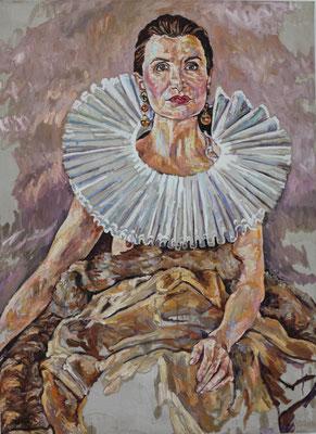 Helga Druml, Irene Andessner (Porträt), 150 x110cm, 2017 (c) Helga Druml