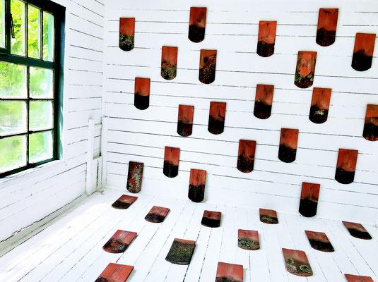 Arno Popotnig, Somewhere Else, Streuung 2021, Gartenhaus Intervention, Schloss Ebenau ©Popotnig und Galerie Walker