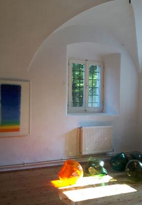 Schloss Ebenau, Heinz Mack, Hiromi Masuda, Sommer 2018  © Galerie Walker
