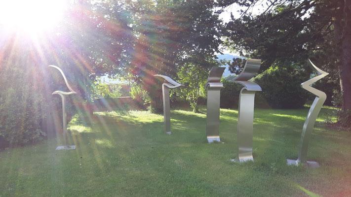 Barbara Szüts, Skulpturen im Schlosspark Ebenau ©bei der Künstlerin und Galerie Walker